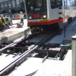 18 San Francisco Electric Track Switch, T-3 Site Install with Streetcar 4