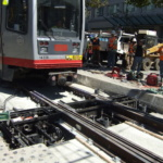 20 San Francisco Electric Track Switch, T-3 Site Install with Streetcar 6