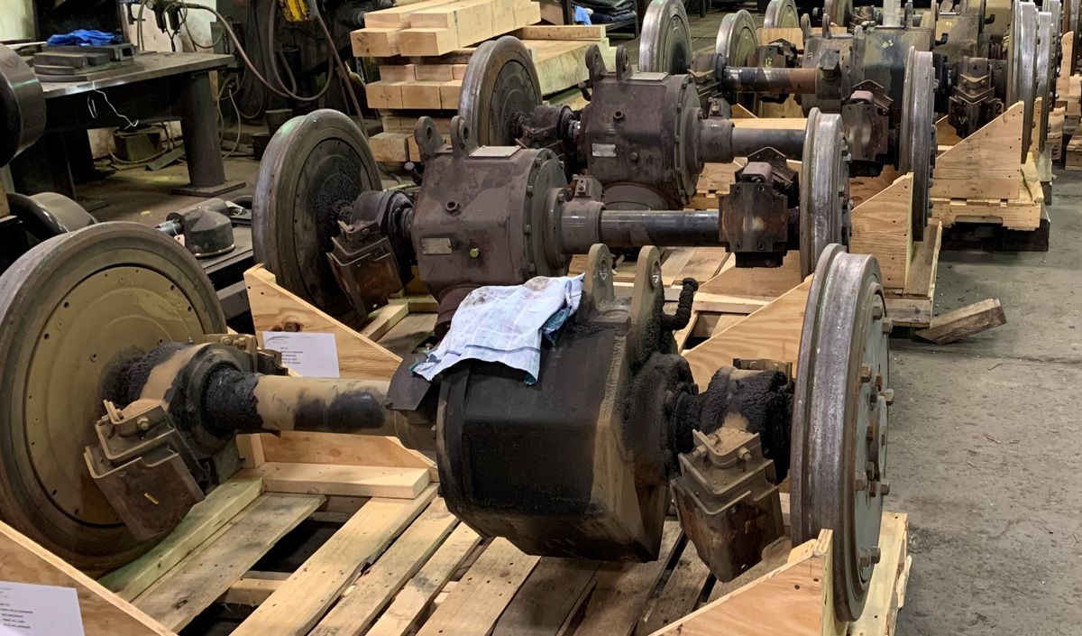 Transit Gearbox and Wheel Sets Before Repair