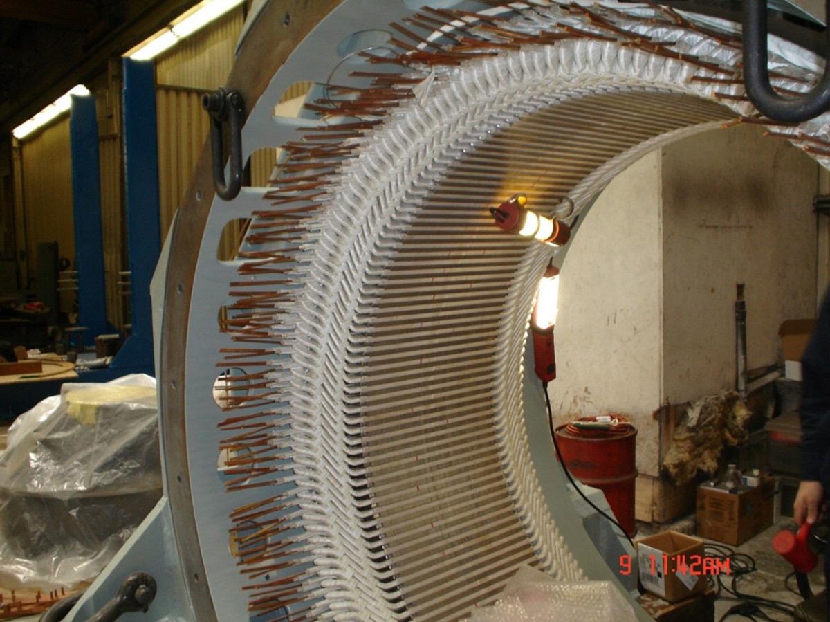 Large Motor Stator Winding