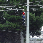 Pole Mount Switch Point Indication Light, 4 Light San Francisco SFMTA